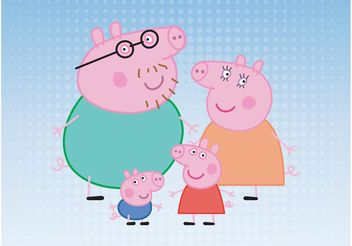 Pig Family - Kostenloses vector #158405