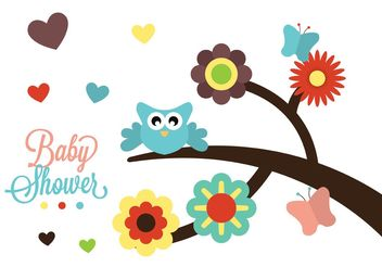 Baby Shower Vector - vector gratuit #158435