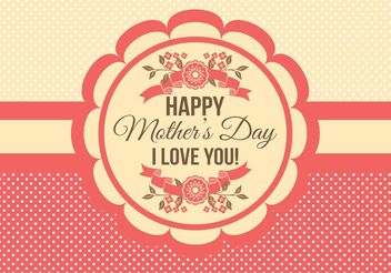 Mother's Day Card - vector gratuit #158455