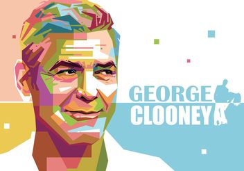 George Clooney Vector Portrait - бесплатный vector #158465