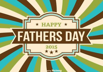 Father's Day Vector Illustration - Kostenloses vector #158485