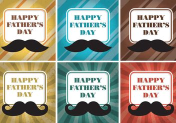 Happy Father's Day Card Vectors - Free vector #158495