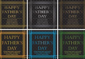 20's Happy Fathers Day Vector Backgrounds - Free vector #158505