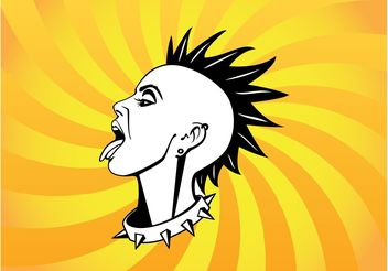 Mohawk Girl - Free vector #158585