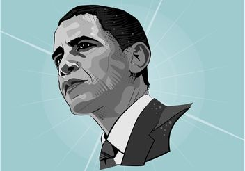 Barrack Obama Vector Portrait - vector gratuit #158595