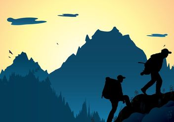 Mountaineering - vector gratuit #158615
