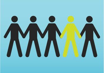 People Holding Hands - vector gratuit #158625