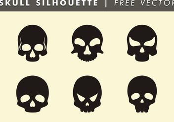Skull Silhouette Free Vector - Free vector #158685