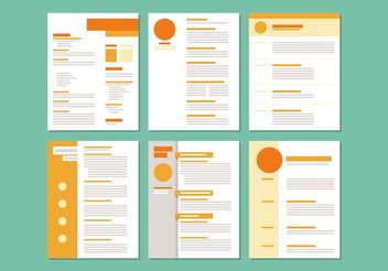 Curriculum Vitae Layout Templates - Free vector #158705
