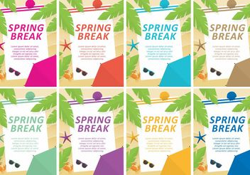 Spring Break Vector Templates - Free vector #158785