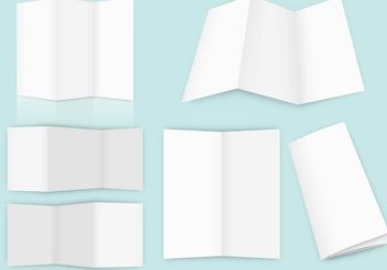 Empty Fold Brochure Vectors - бесплатный vector #158795