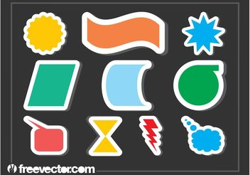 Colorful Stickers - vector gratuit #158815