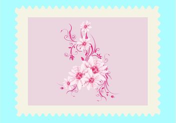 Pink Flower Design - vector gratuit #158875