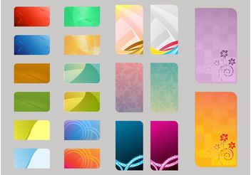 Colorful Card Templates - Kostenloses vector #158925