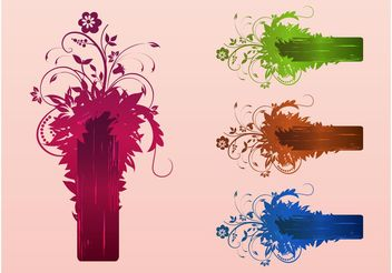 Floral Design Templates - vector gratuit #158935