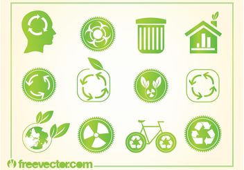 Recycling Logos - Free vector #159085