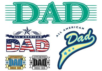 Dad Stickers Graphics - бесплатный vector #159125