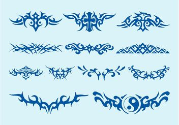 Tribal Tattoos Set - Free vector #159135