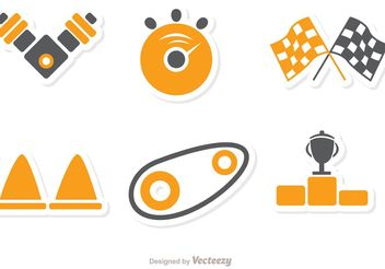 Racing Icon Vector Pack 1 - Free vector #159155