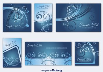 Invitation Card Templates - Free vector #159185