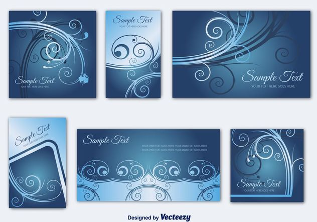 Invitation Card Templates - vector gratuit #159185