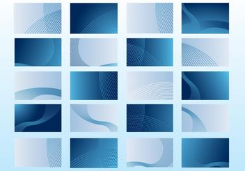 Blue Business Cards - Free vector #159215