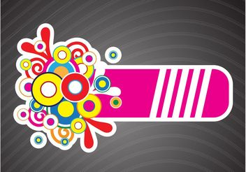 Colorful Crazy Banner - Free vector #159235