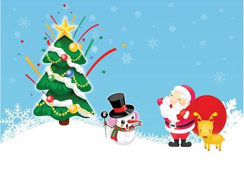Vector Christmas Layout - vector gratuit #159355