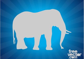 Elephant Silhouette Layout - Free vector #159395
