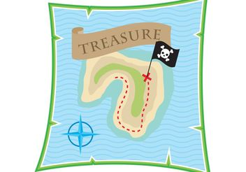 Treasure Map Vector - vector #159605 gratis