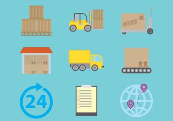 Delivery Vector Icons - Free vector #159865