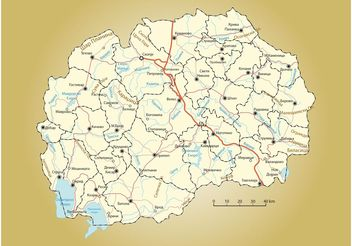 Macedonia Map - Free vector #159885