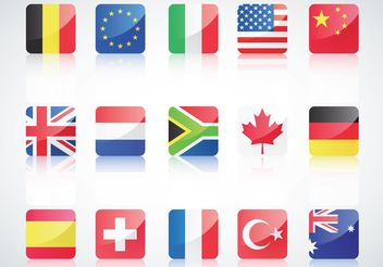 International Flags - vector gratuit #159895