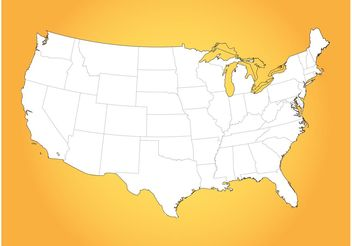 USA Map - vector #159915 gratis