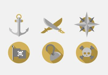 Pirate Vector Icons Set - бесплатный vector #159935