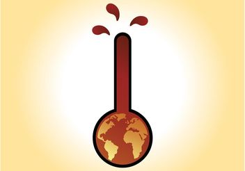Global Warming Vector - Free vector #159945