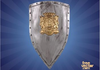 Heraldic Shield With Lions - vector #159985 gratis