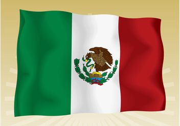 Mexican Flag - vector gratuit #160035
