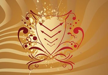 Red Abstract Shield - vector #160105 gratis