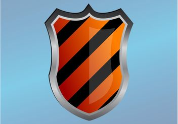 Striped Shield - vector gratuit #160125