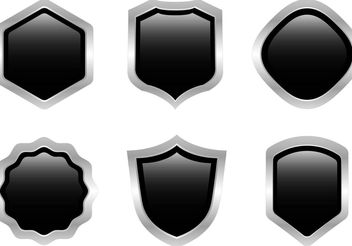 Free Black Steel Shield Vector - vector gratuit #160145