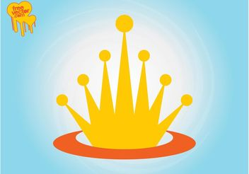 Crown Logo Template - vector gratuit #160215