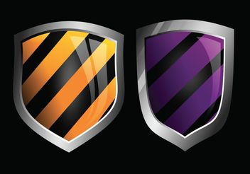 Glossy Vector Shields - Kostenloses vector #160225
