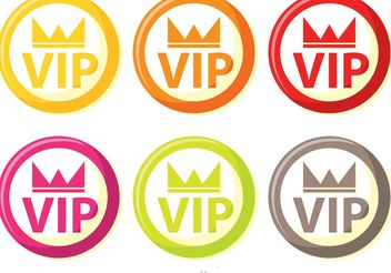 Colorful Circle Vip Icons Vector Pack - бесплатный vector #160315