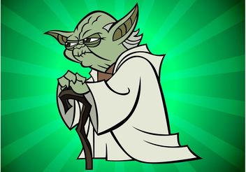 Yoda Cartoon - Kostenloses vector #160325
