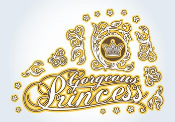 Princess Graphics - vector gratuit #160435