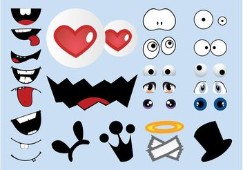 Cartoon Character Elements - vector gratuit #160525