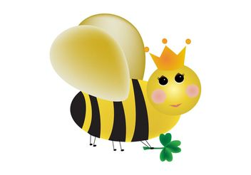 Cartoon Queen Bee - vector gratuit #160585