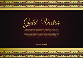 Elegant Gold and Red Background Illustration - Kostenloses vector #160625