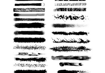 Black and White textured vector brushes - бесплатный vector #160635